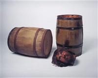 still life (barrels, head) by sam durant