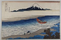 planche 8 - la rivière tama dans la province de musashi. bush? tamagawa. les 36 vues du mont fuji by katsushika hokusai