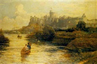 boating by windsor castle by john emmanuel jacobs