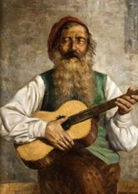 viejo tocador de guitarra by joaquín agrasot y juan
