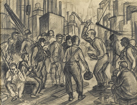 factory workers by john french sloan