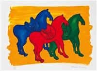 altchinesische pferde by malcolm morley