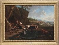 animali al guado by dirk van bergen