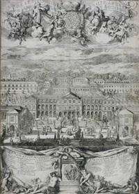 vue et perspective de saltzdahlen de la maison plaisante...du jardin avec ses environs by romeyn de hooghe