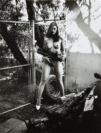 domestic nude xi, los angeles by helmut newton