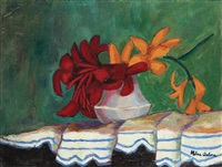 vase with lillies by nina arbore