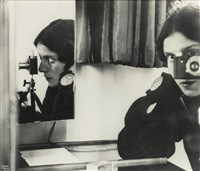 self in mirrors (self-portrait) by ilse bing