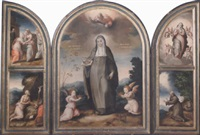 st. elizabeth of hungary; the visitation and st. jerome; the immaculate conception and st. francis receiving the stigmata by antonio de alfian