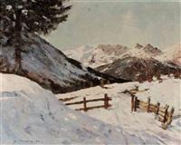 winter im hochgebirge by fritz kraml