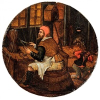 le tailleur de flèches by pieter brueghel the younger