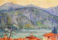north italian lake scene by john peter russell