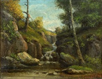 sous-bois by gustave courbet and alexandre rapin