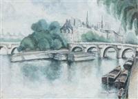 paris, le pont-neuf et le square du vert-galant by max jacob