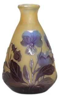 paire de petits vases (pair) by émile gallé