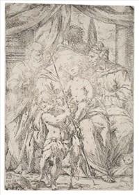 the holy family with st. elisabeth and st. john the baptist (3 imp.) by giuseppe diamantini