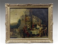 le banquet d'esther et assuérus by hieronymus francken iii