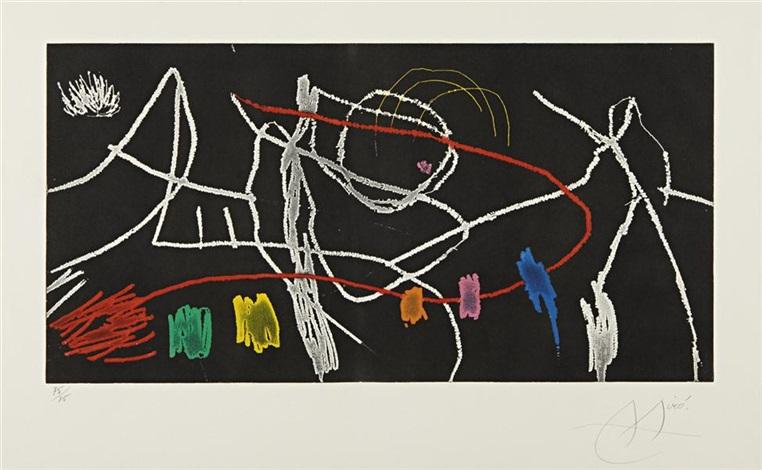 gravures pour une exposition plate 3 by joan miró