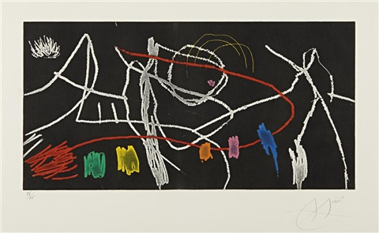 gravures pour une exposition: plate 3 by joan miró