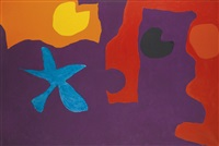 manganese in deep violet : january 1967 by patrick heron