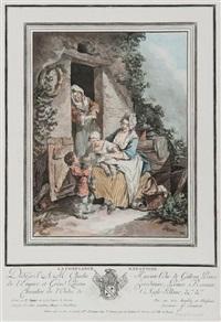 la crainte enfantine - la confiance enfantine (pair after s. freudeberg) by jean françois janinet