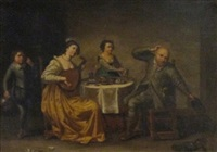 interior tavern scene by david teniers the elder