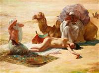 esclaves et leurs marchands dans le désert by eduard ansen-hofmann