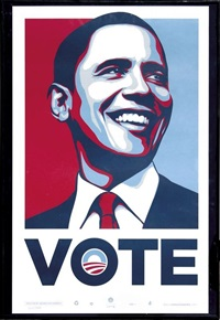 obama for america by shepard fairey