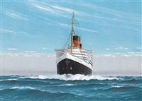 """r.m.s. queen elizabeth"" by david hogan"