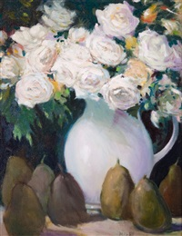 untitled (roses with pears) by frank milby