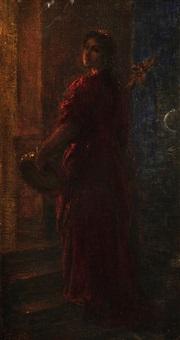 femme au tambourin (l'hiver) by henri fantin-latour
