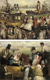 the derby, epsom; high life (+ low life; pair) by archibald s. henning