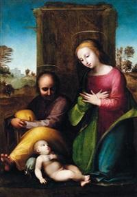 die heilige familie - sacra famiglia by fra bartolommeo