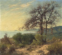 a ligurian landscape by henry herbert la thangue