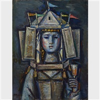 woman with glass by aleksandr grigor'evich tyshler
