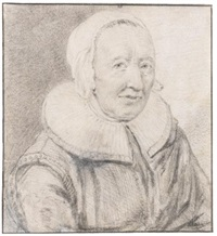 portrait of engeltje pietersdr kort-leve by cornelis visscher