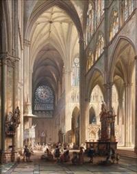 prêche dans la cathédrale d'amiens by jules victor genisson