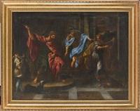 david joue de la harpe devant le roi saül by giacomo zoboli