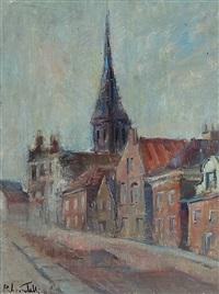 veduta di chiesa, olanda by raffaello locatelli
