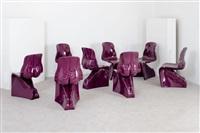 otto sedie mod. her & him by fabio novembre