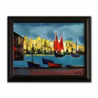 bateau rouge a malte by marcel mouly