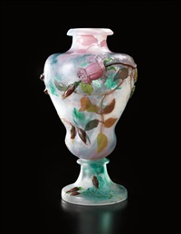 important rose de france vase by émile gallé