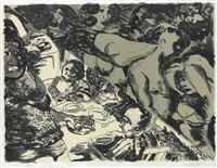 fried chicken and fantasy by robert h. colescott