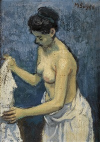 after the bath by moses soyer