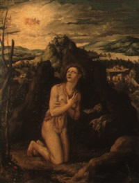 landscape with the penitent magdalen by frans badens the elder