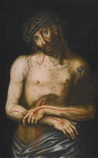 christ as the man of sorrows by lucas cranach the elder