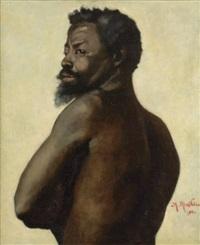 portrait d'africain by antoine mathieu