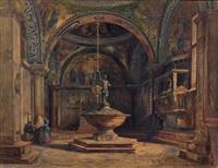 le baptistère de l'église saint marc à venise by jean baptiste van moer