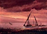 seascape by sudjono abdullah
