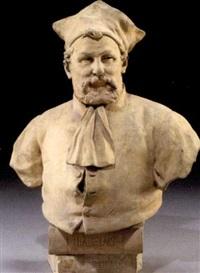 bust of francois rabelais by nicholas lecornet