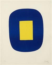 bleu et jaune by ellsworth kelly